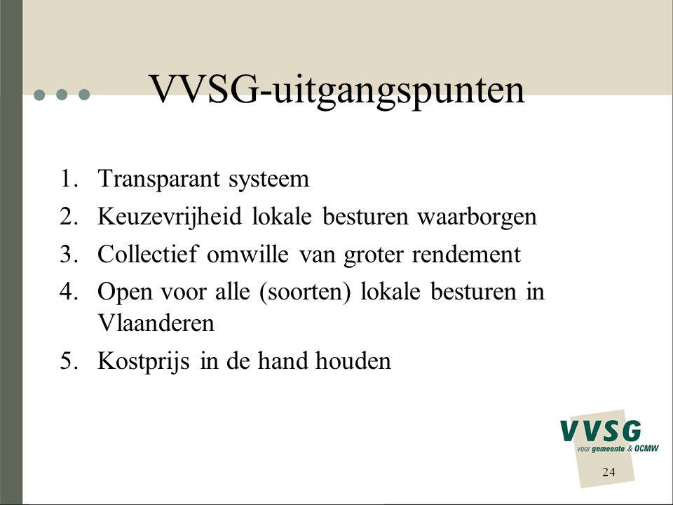 VVSG-uitgangspunten Transparant systeem