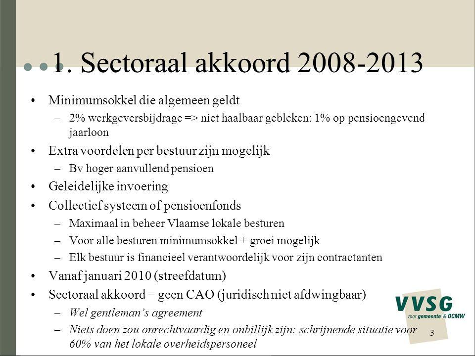 1. Sectoraal akkoord 2008-2013 Minimumsokkel die algemeen geldt