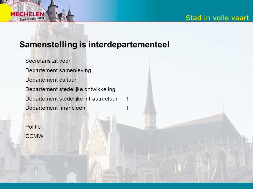 Samenstelling is interdepartementeel