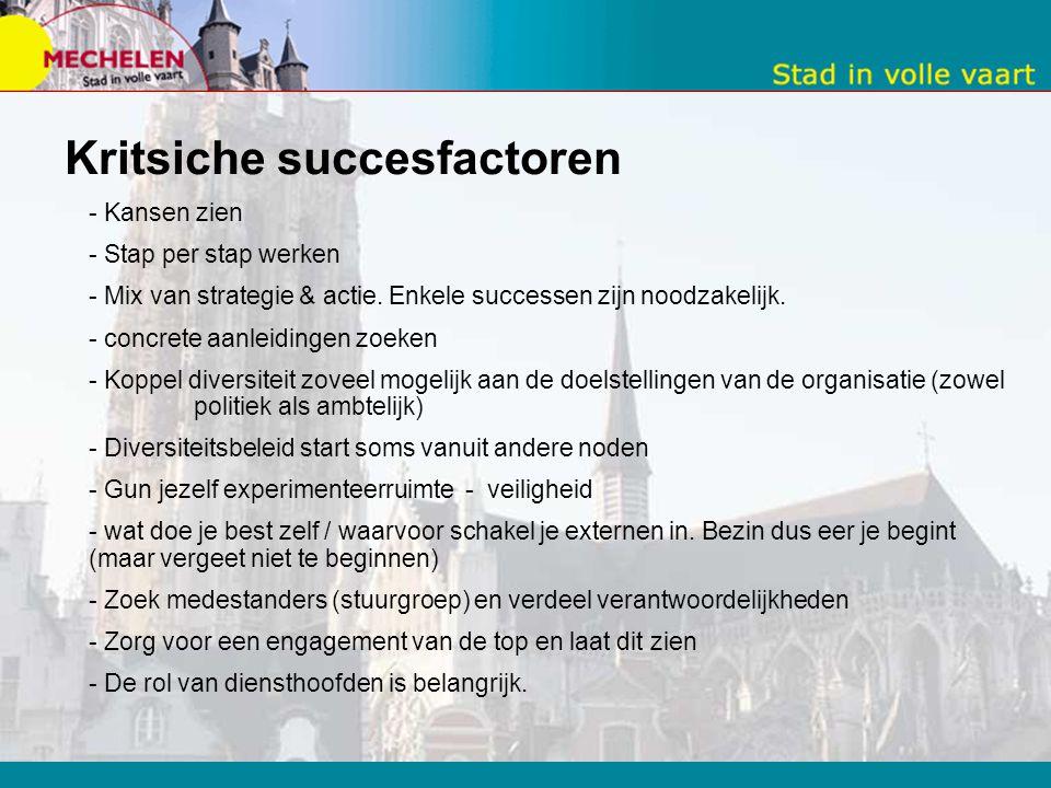 Kritsiche succesfactoren