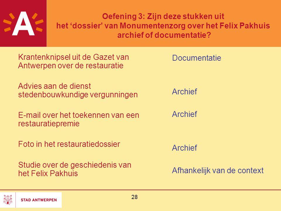 Krantenknipsel uit de Gazet van Antwerpen over de restauratie