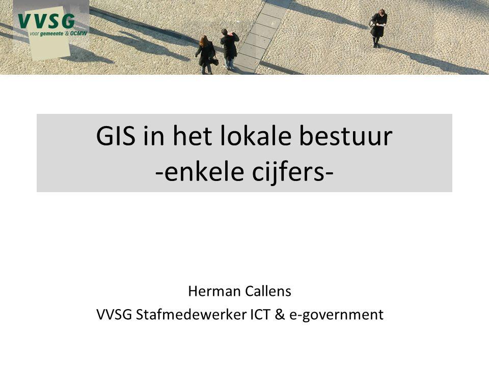 GIS in het lokale bestuur -enkele cijfers-