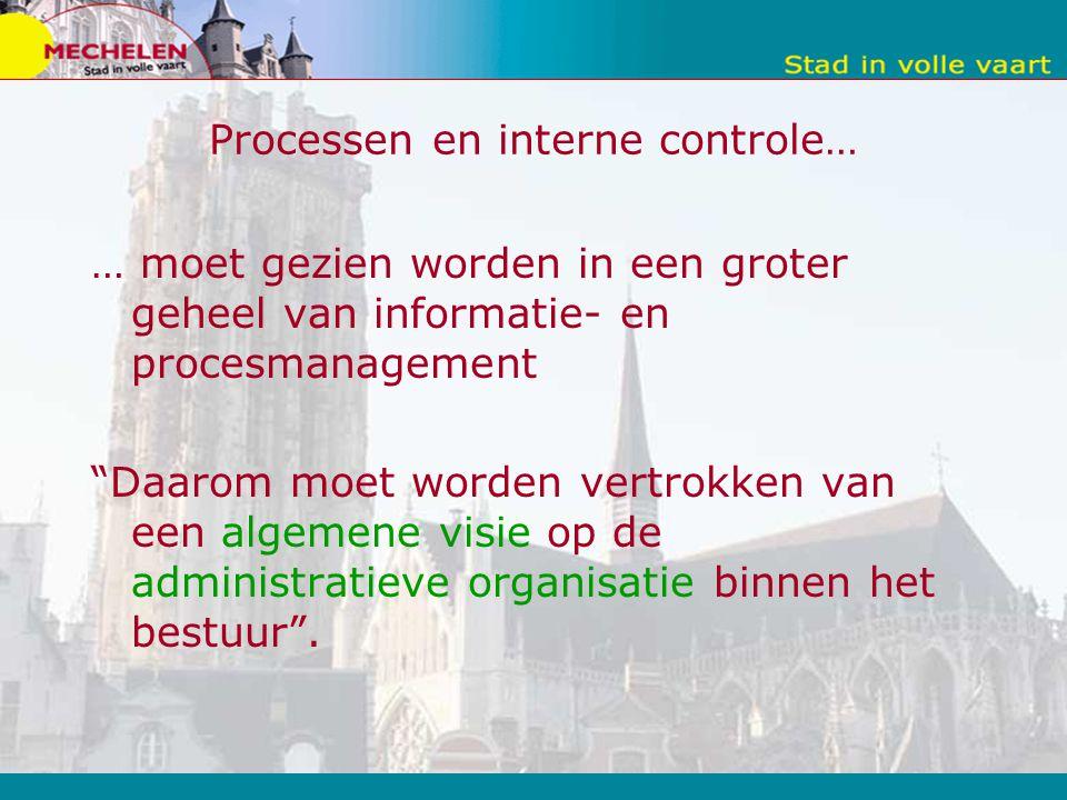 Processen en interne controle…