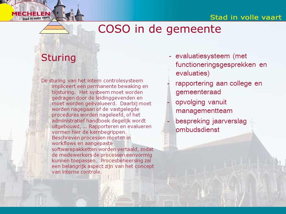 COSO in de gemeente Sturing