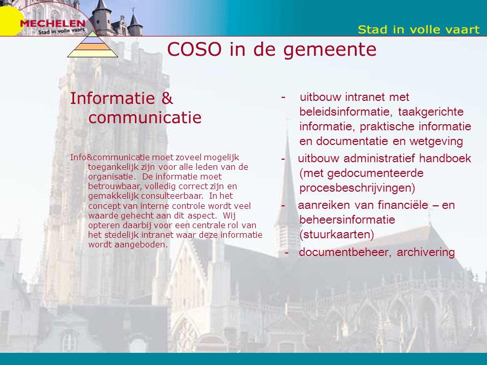 COSO in de gemeente Informatie & communicatie