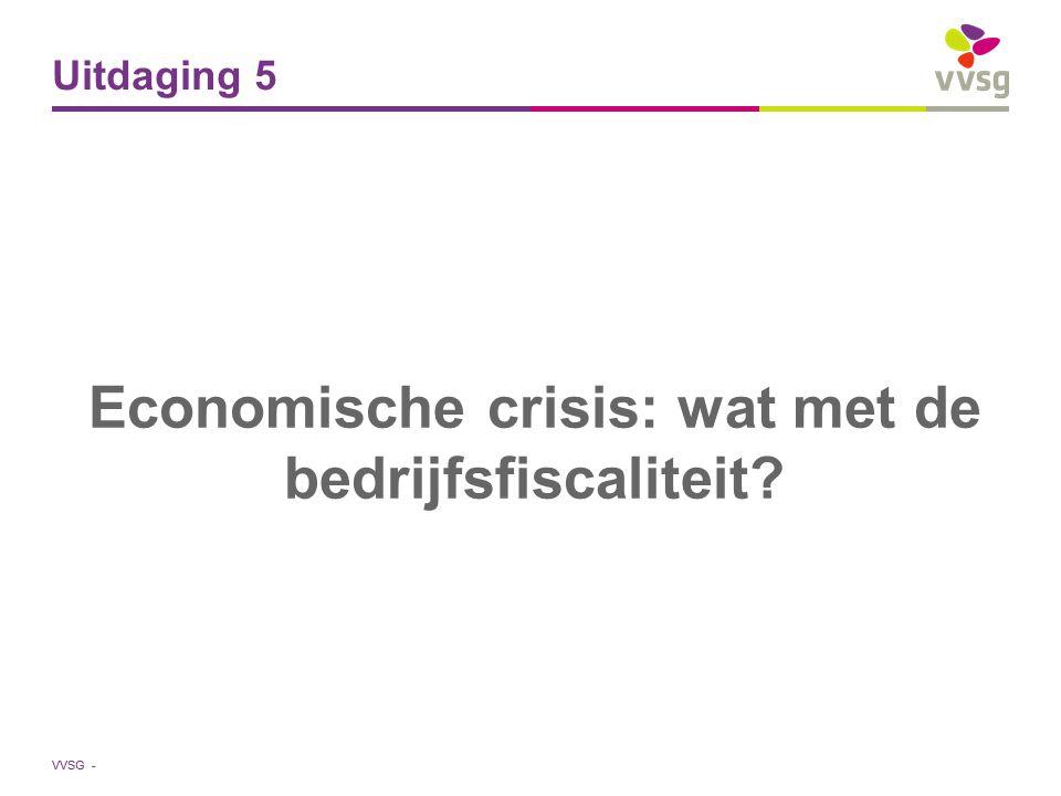 Economische crisis: wat met de bedrijfsfiscaliteit