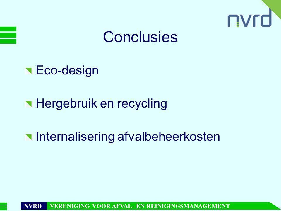 Conclusies Eco-design Hergebruik en recycling