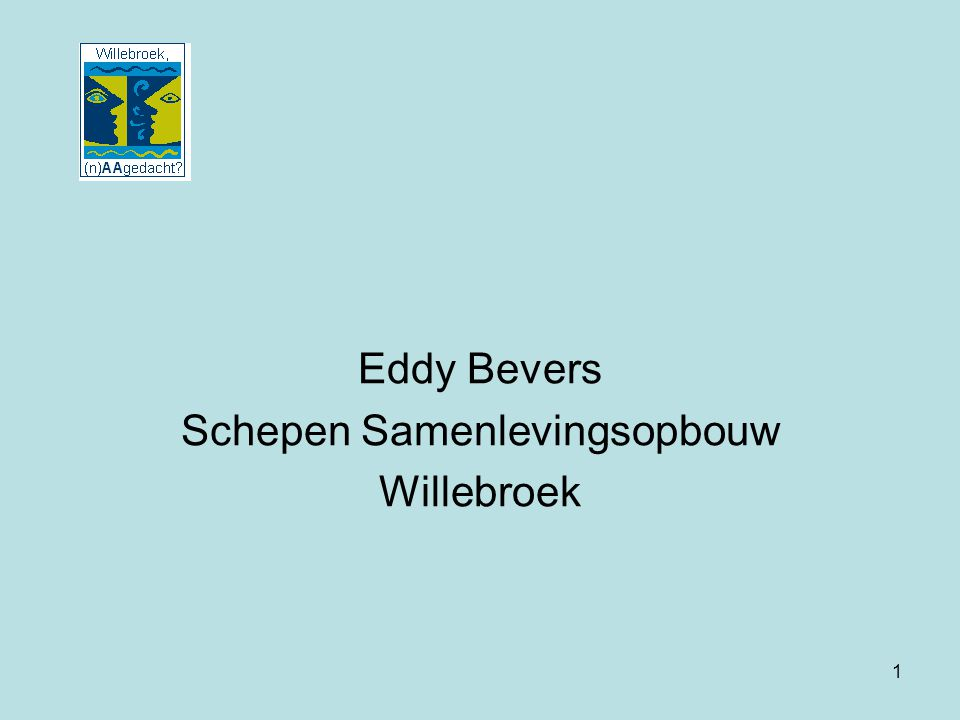 Eddy Bevers Schepen Samenlevingsopbouw Willebroek