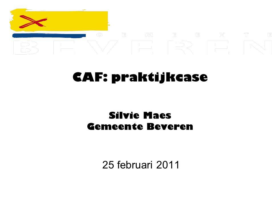 CAF: praktijkcase Silvie Maes Gemeente Beveren