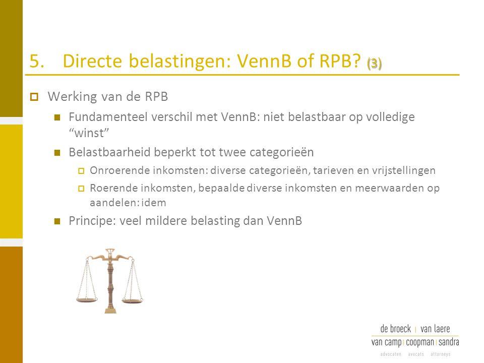 5. Directe belastingen: VennB of RPB (3)