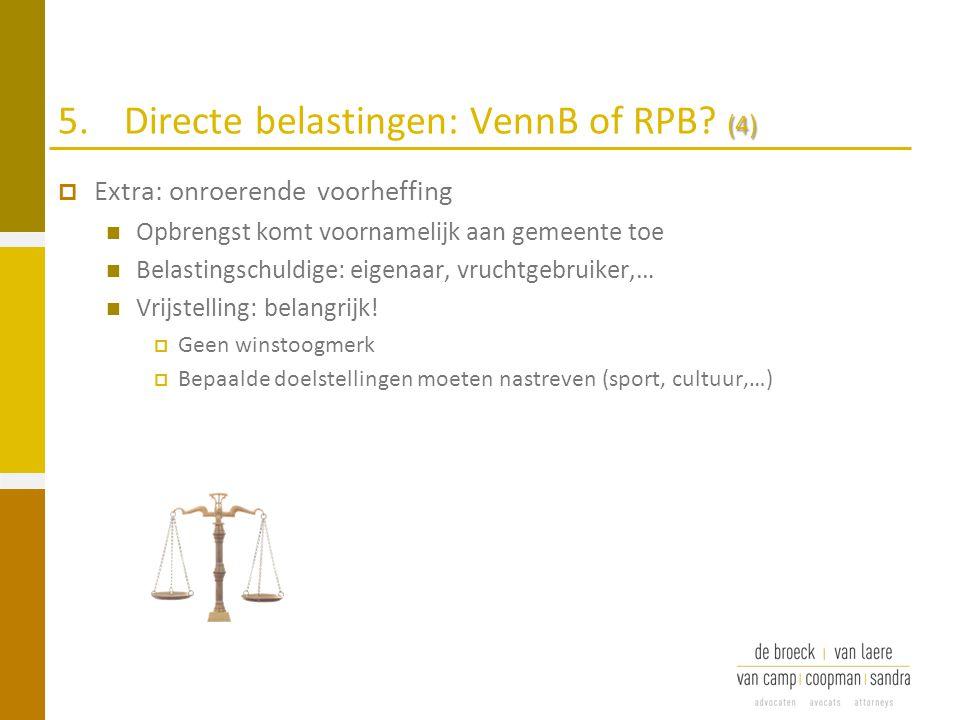5. Directe belastingen: VennB of RPB (4)