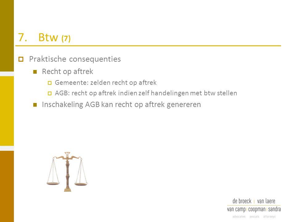 7. Btw (7) Praktische consequenties Recht op aftrek