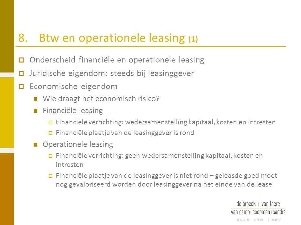 8. Btw en operationele leasing (1)