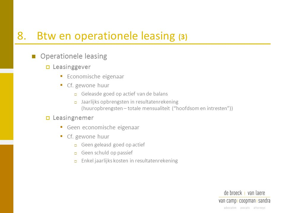 8. Btw en operationele leasing (3)