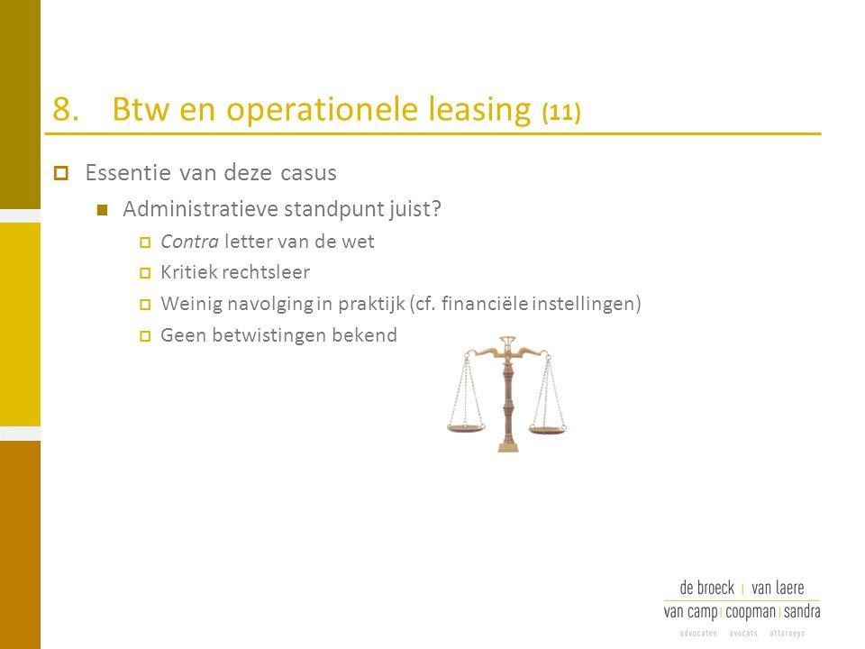 8. Btw en operationele leasing (11)