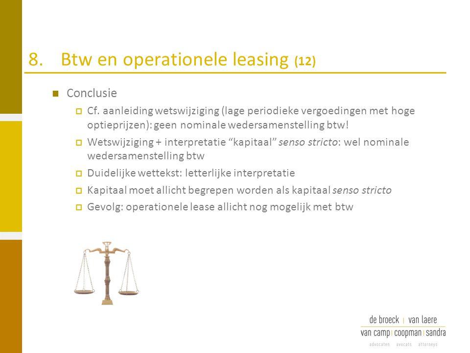 8. Btw en operationele leasing (12)