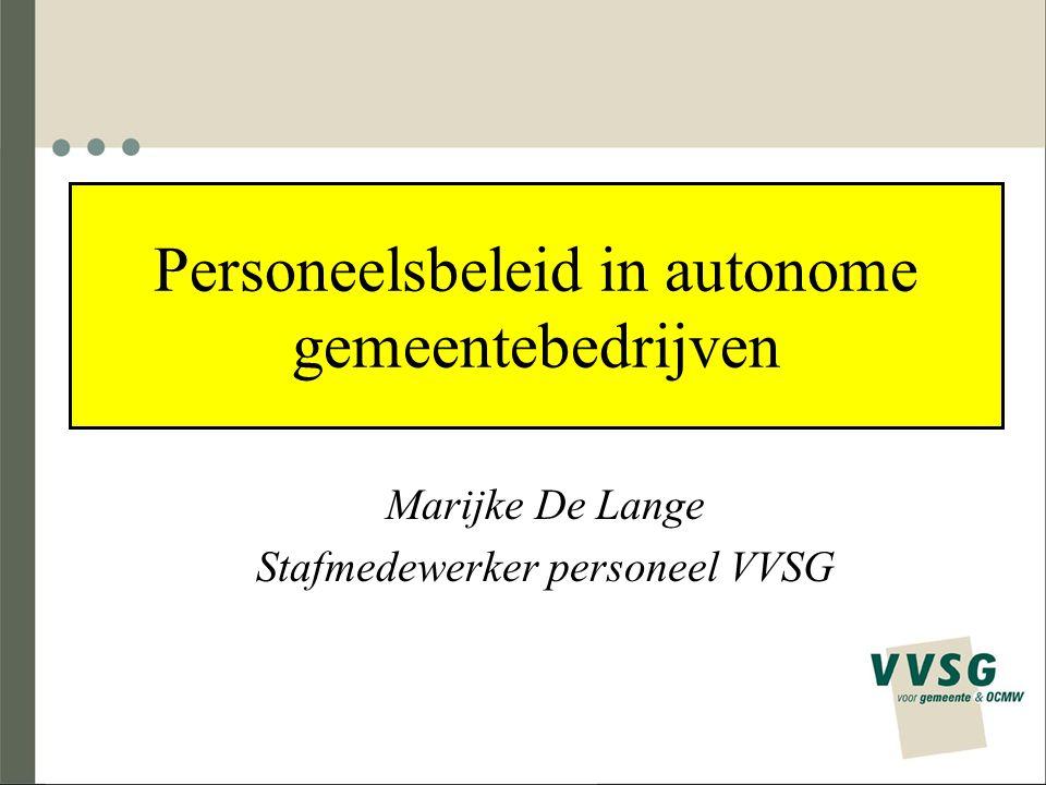 Personeelsbeleid in autonome gemeentebedrijven