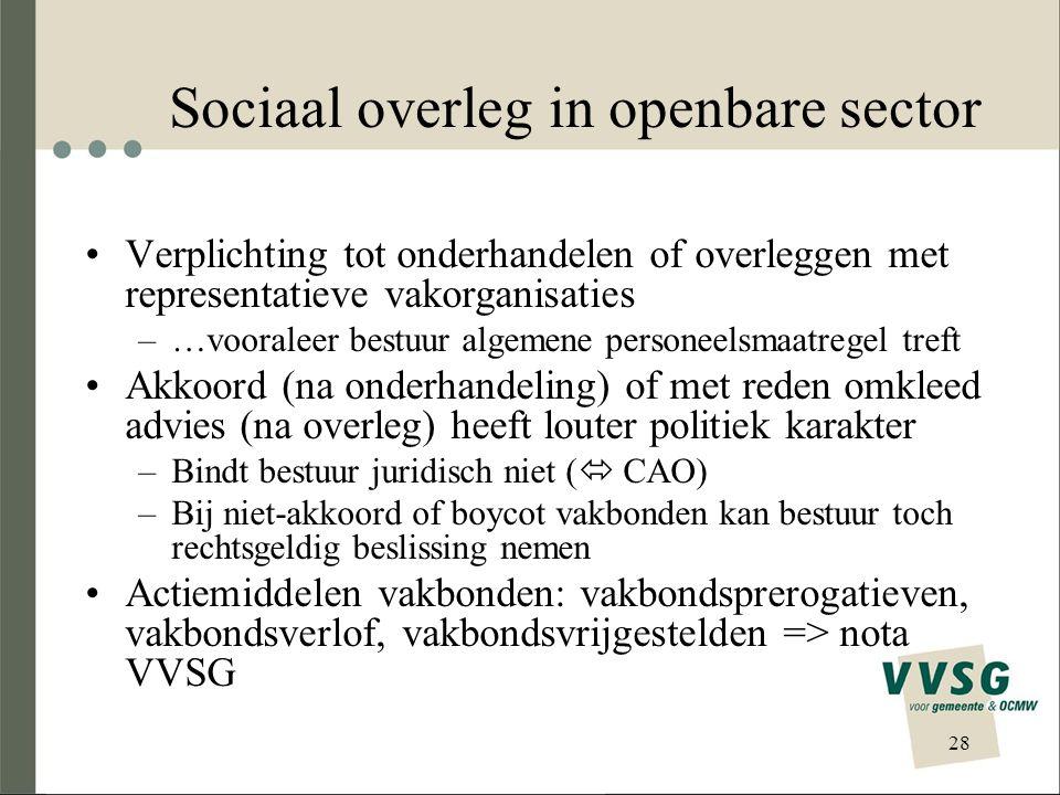 Sociaal overleg in openbare sector