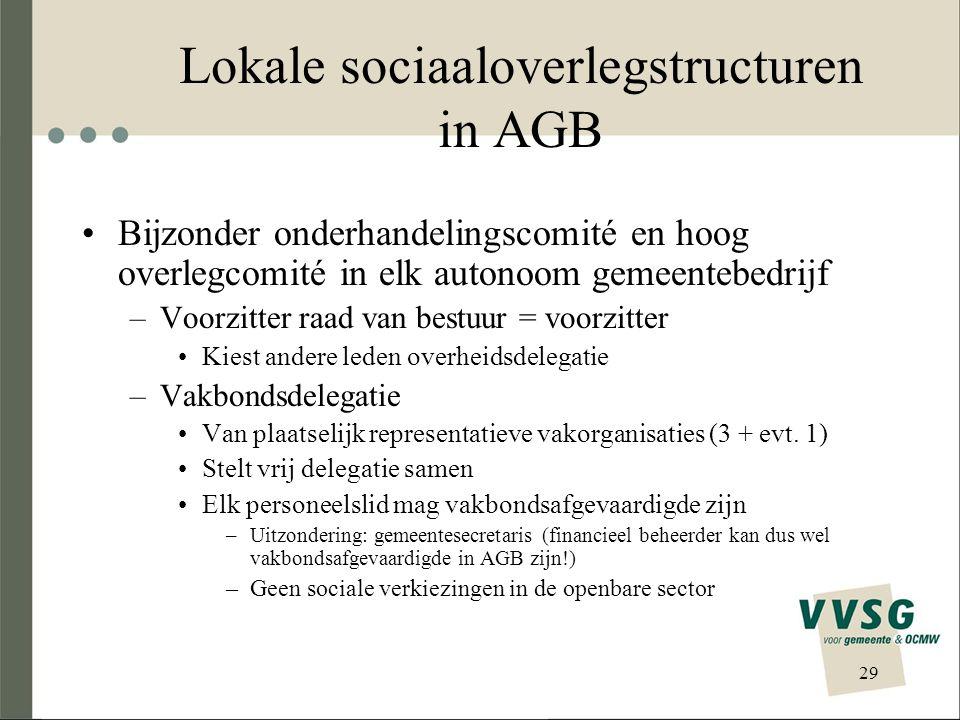 Lokale sociaaloverlegstructuren in AGB