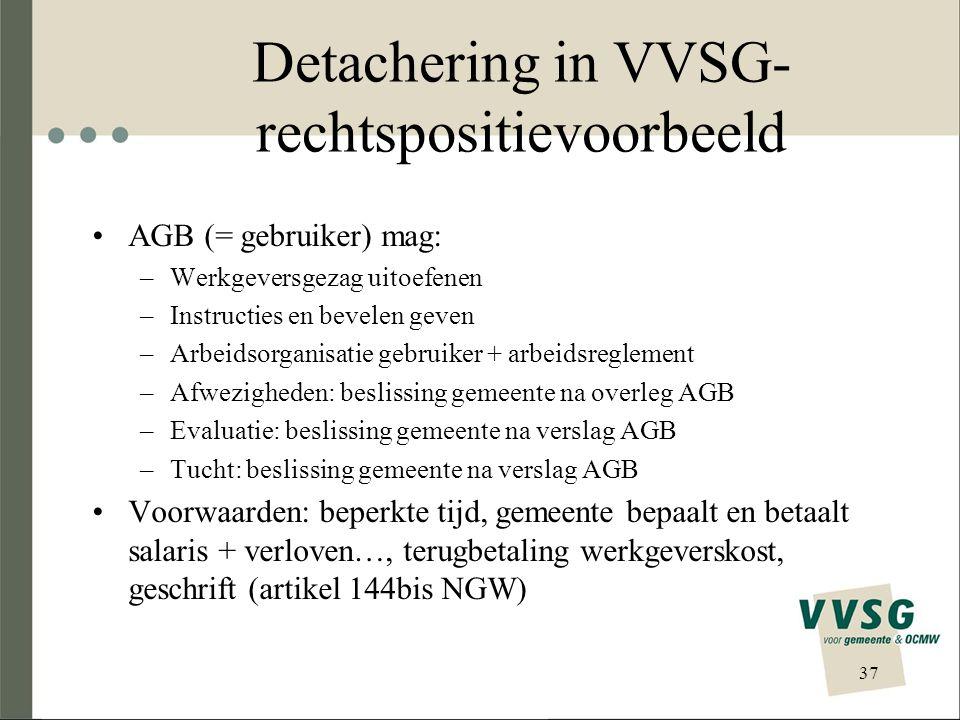 Detachering in VVSG-rechtspositievoorbeeld