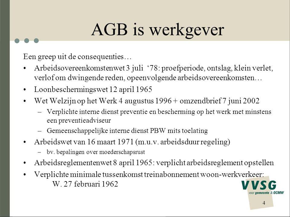 AGB is werkgever Een greep uit de consequenties…
