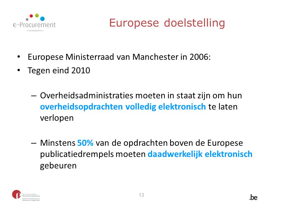 Europese doelstelling