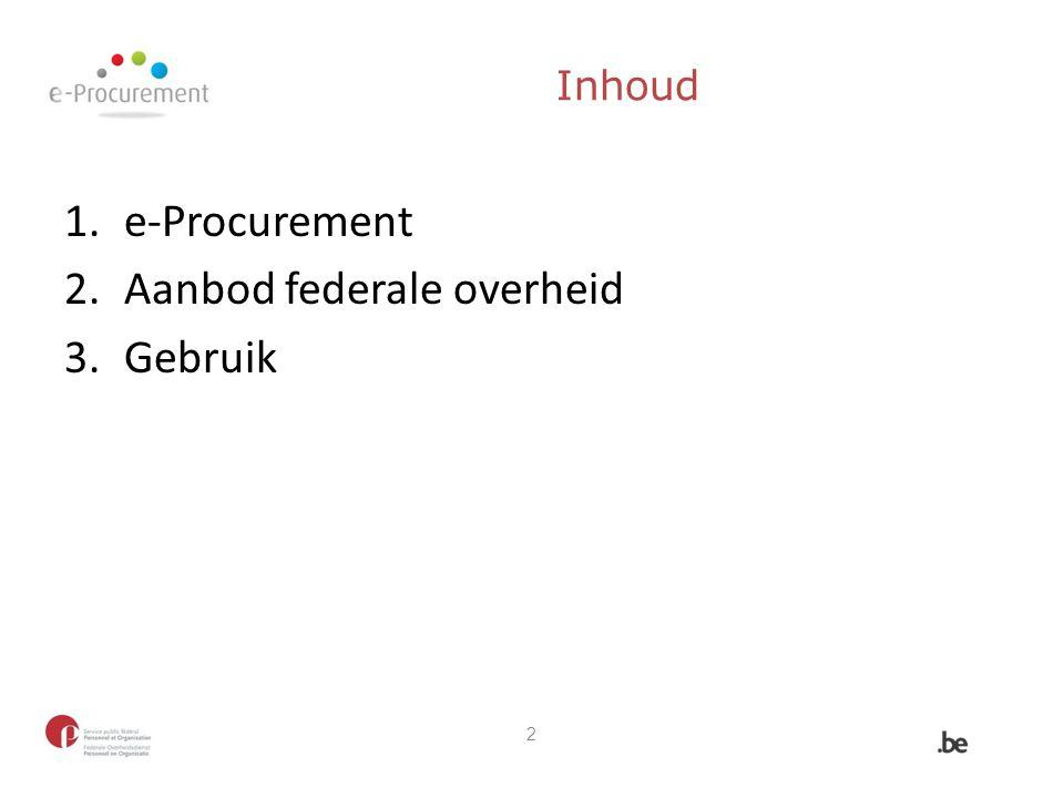 Aanbod federale overheid Gebruik
