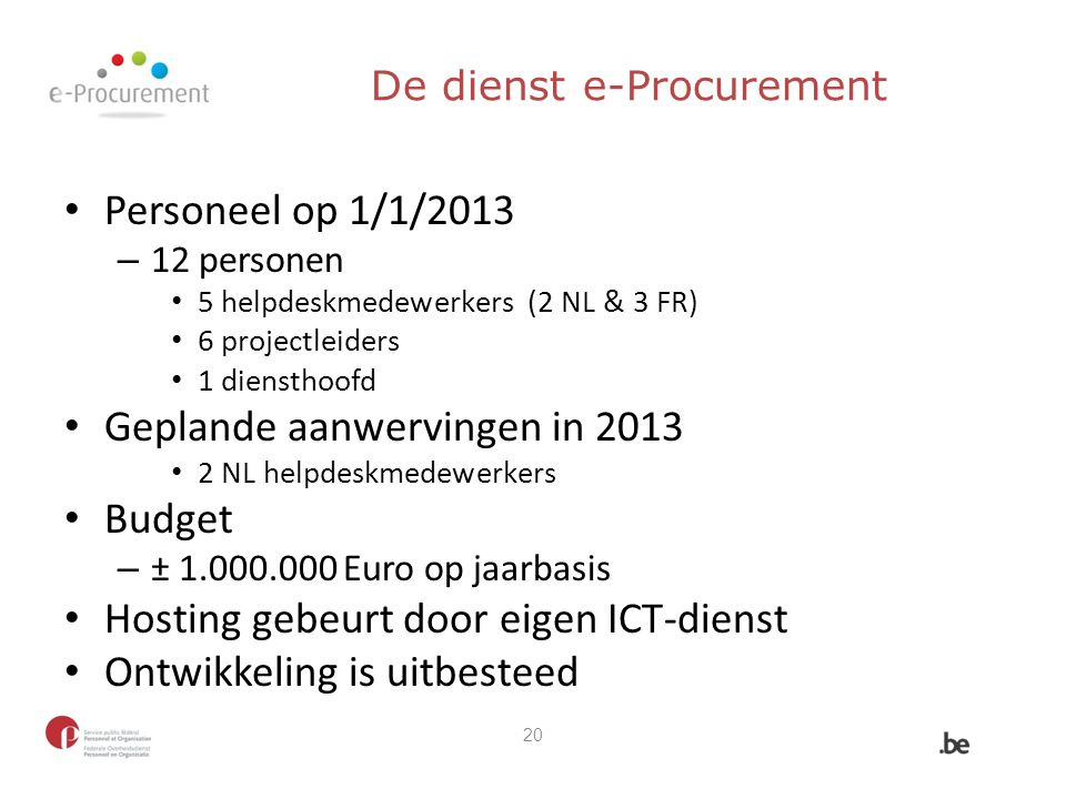 De dienst e-Procurement