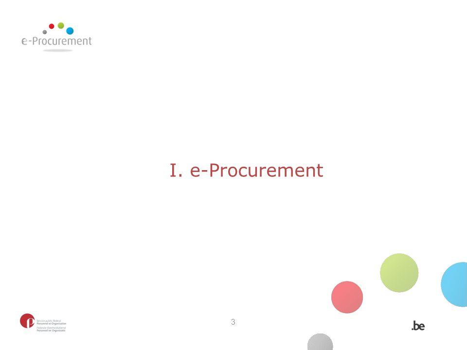 I. e-Procurement