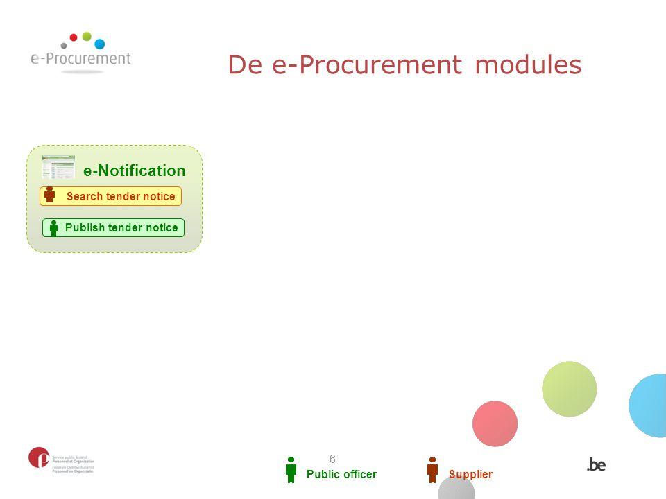 De e-Procurement modules