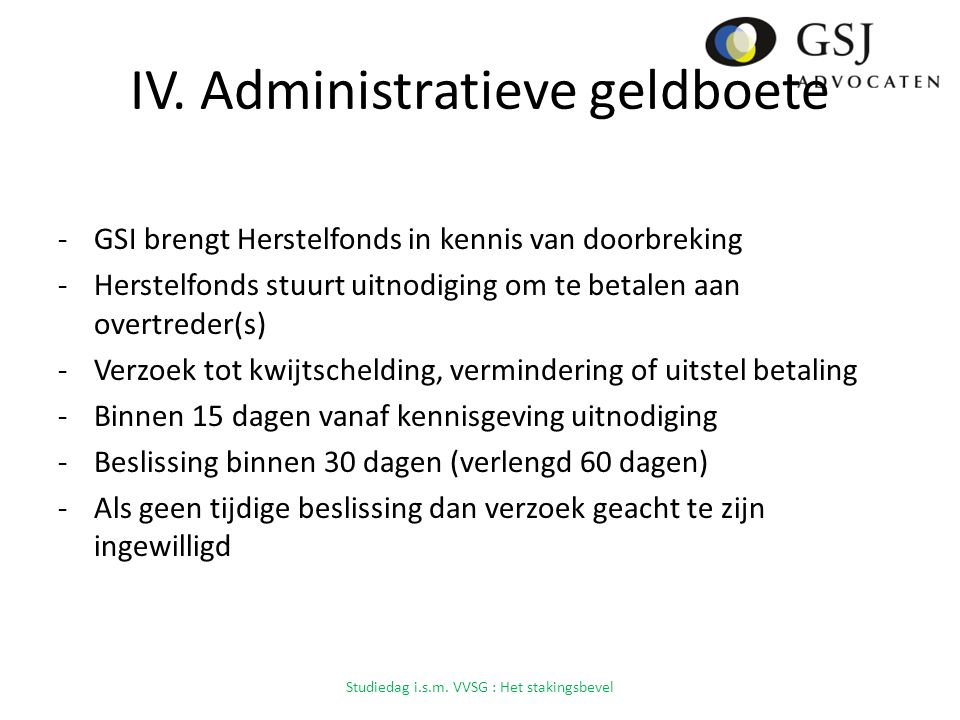 IV. Administratieve geldboete