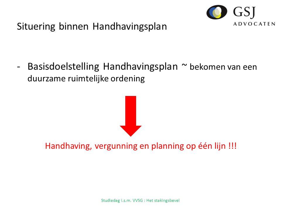 Situering binnen Handhavingsplan