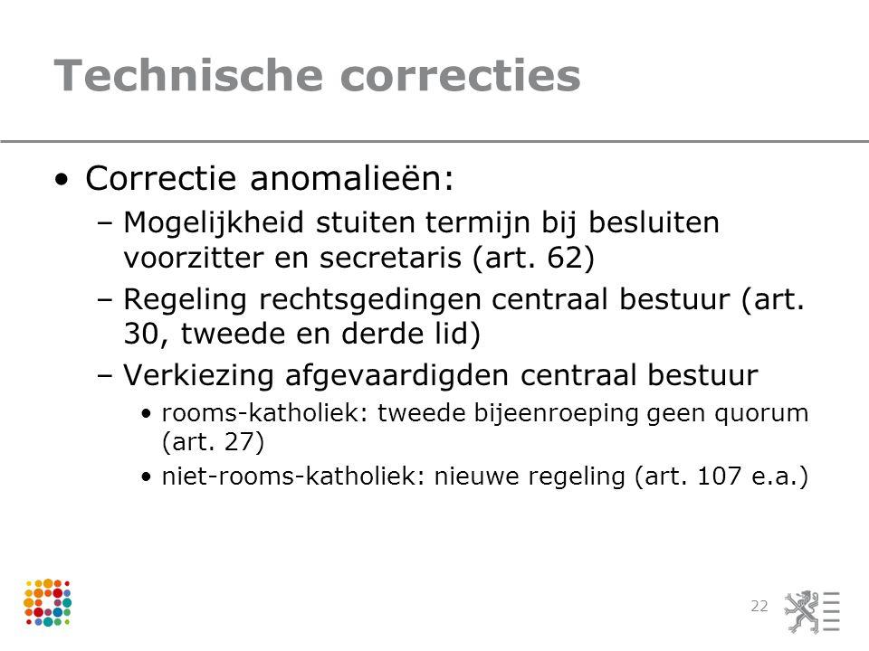 Technische correcties