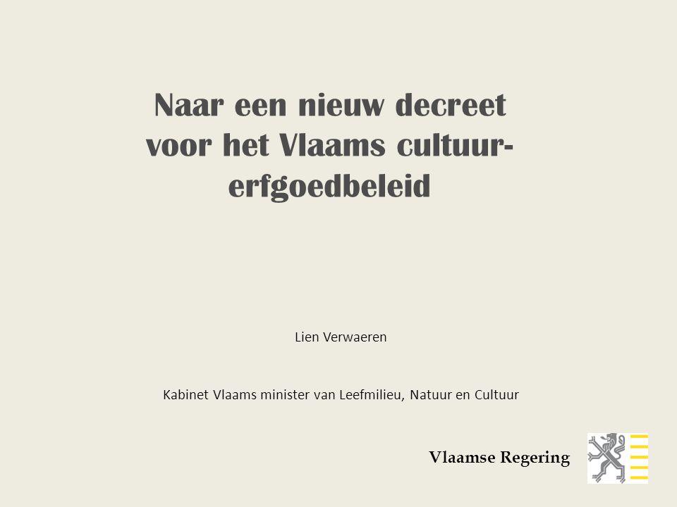 Naar een nieuw decreet voor het Vlaams cultuur-erfgoedbeleid