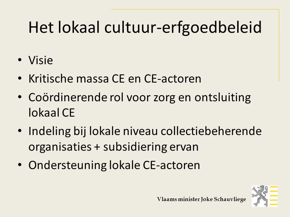 Het lokaal cultuur-erfgoedbeleid