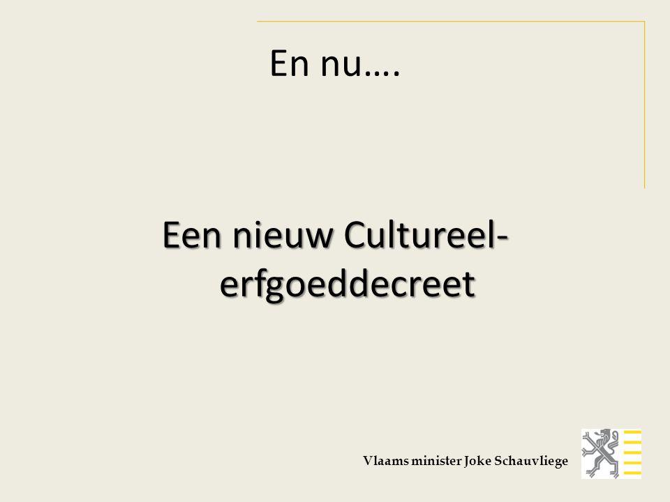 Een nieuw Cultureel-erfgoeddecreet