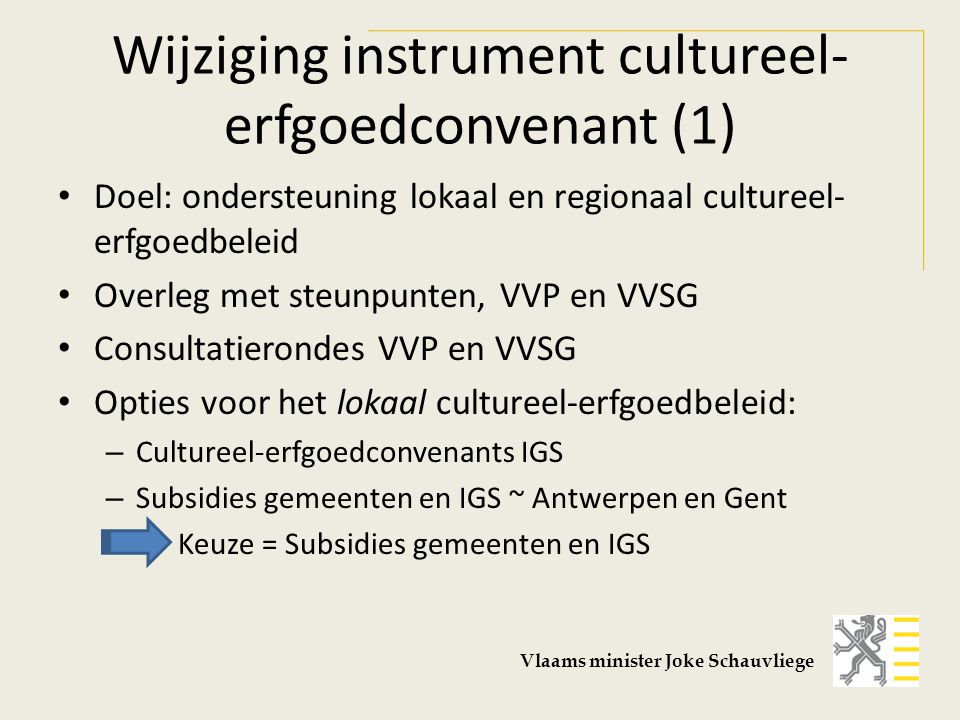 Wijziging instrument cultureel-erfgoedconvenant (1)