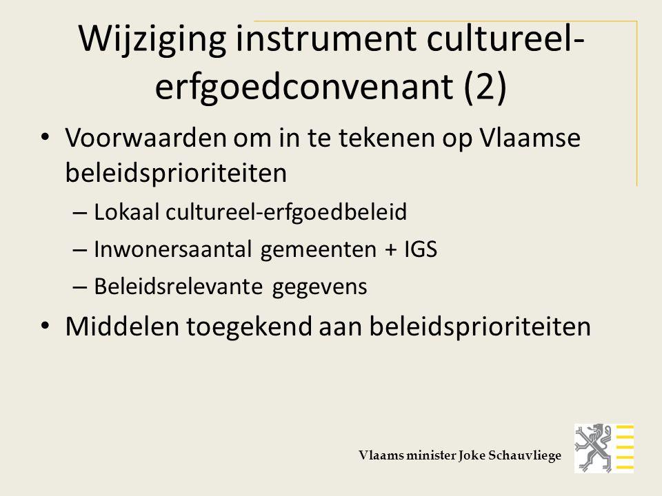 Wijziging instrument cultureel-erfgoedconvenant (2)