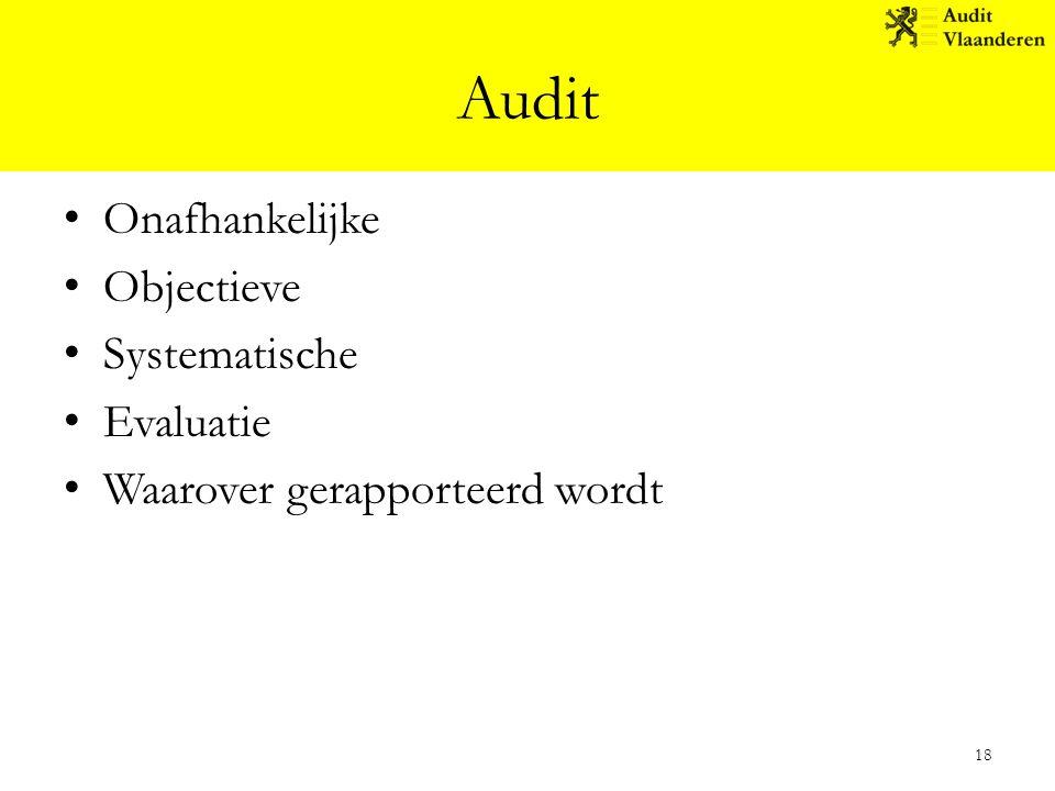 Audit Onafhankelijke Objectieve Systematische Evaluatie