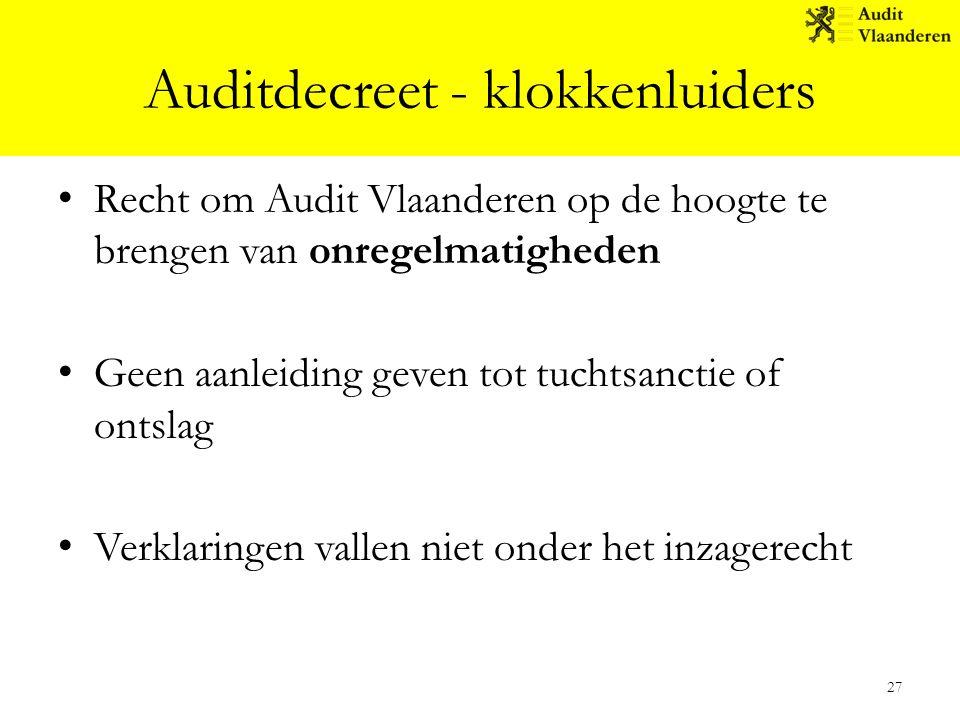 Auditdecreet - klokkenluiders