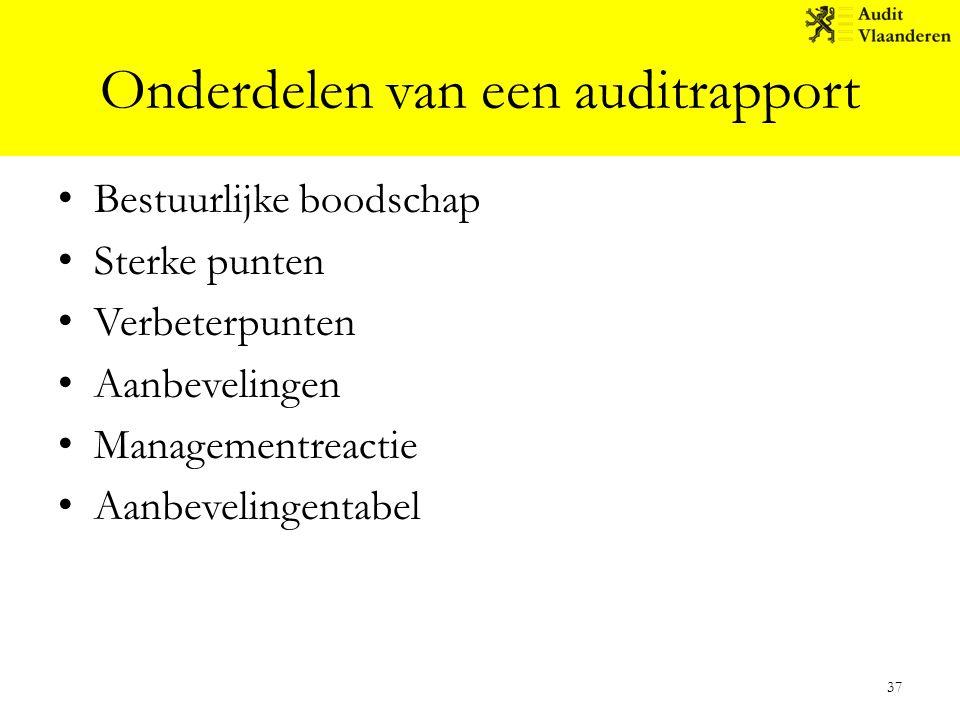 Onderdelen van een auditrapport