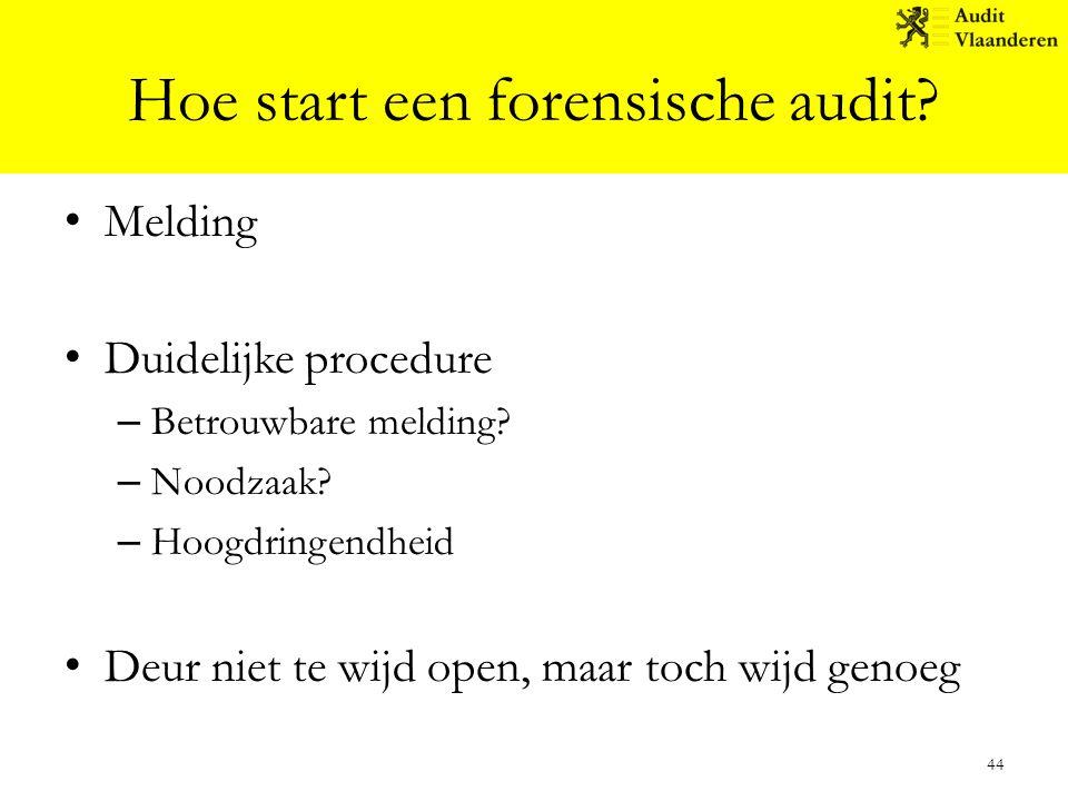 Hoe start een forensische audit