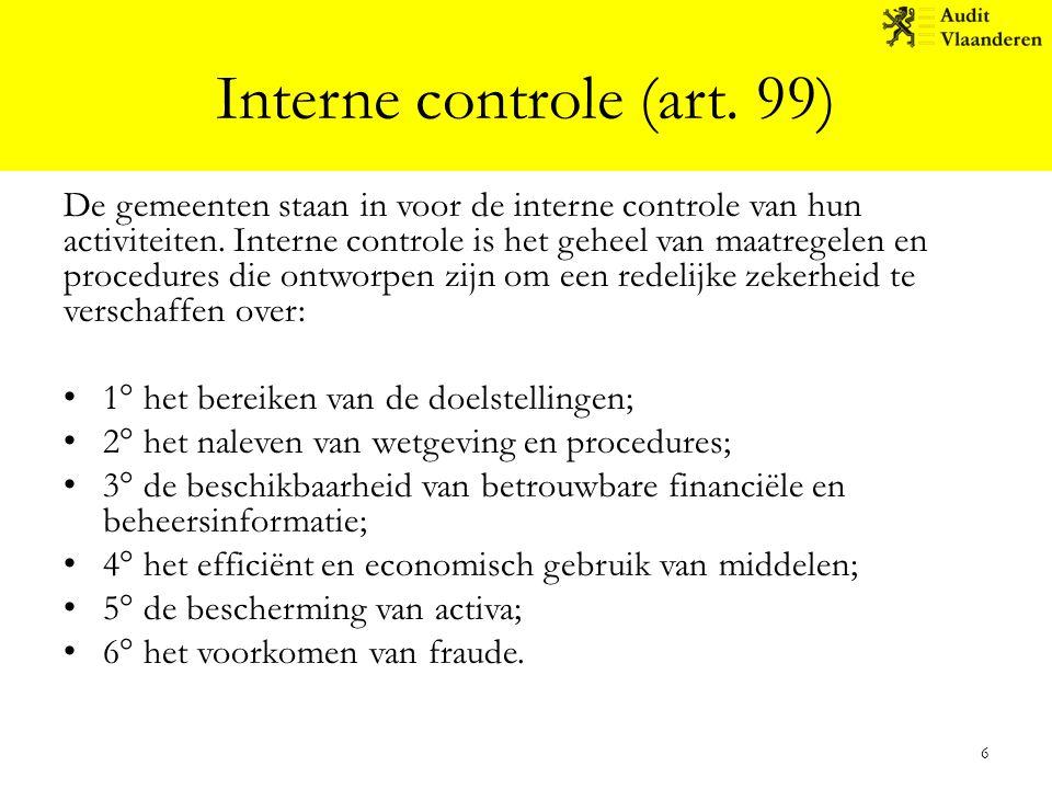 Interne controle (art. 99)