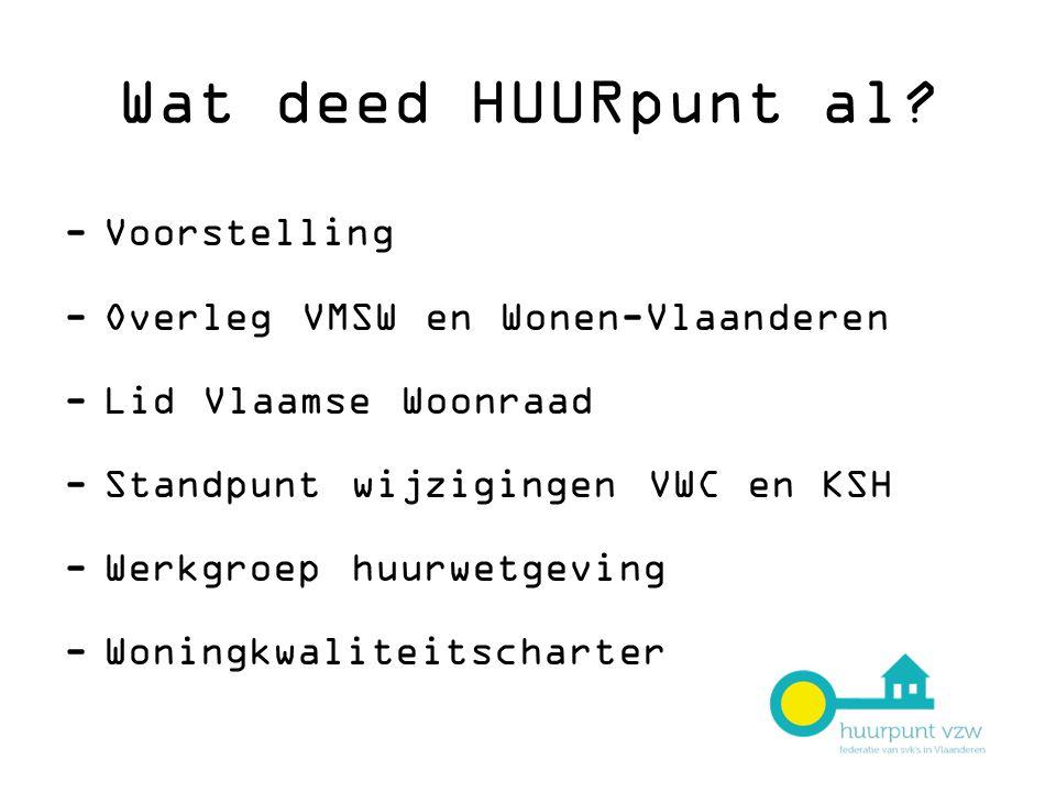 Wat deed HUURpunt al Voorstelling Overleg VMSW en Wonen-Vlaanderen