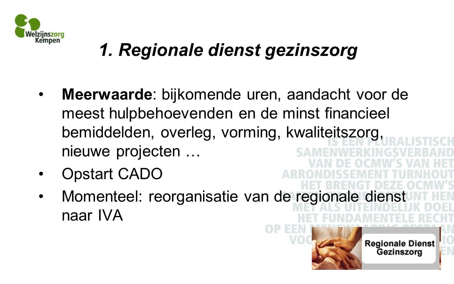 1. Regionale dienst gezinszorg