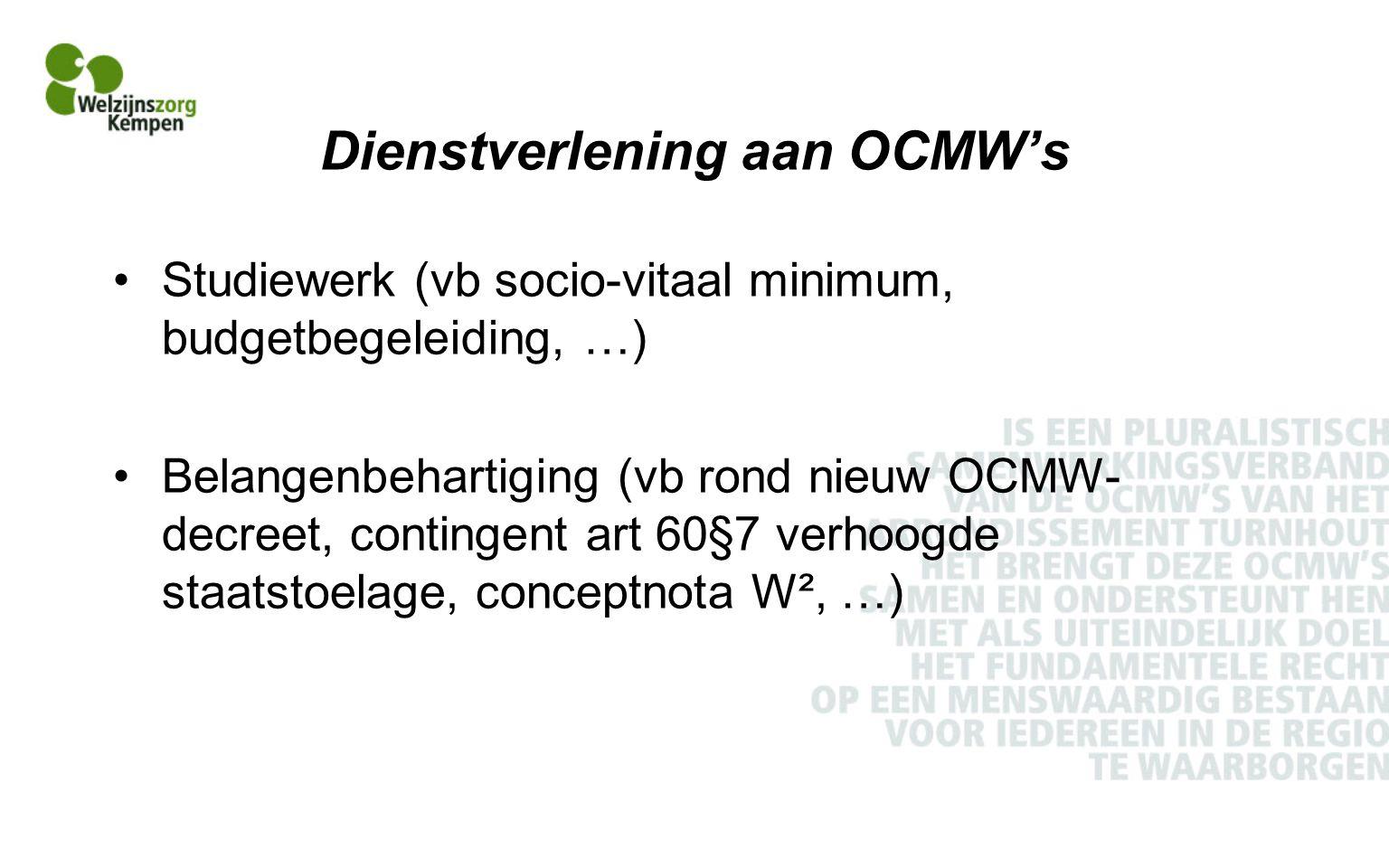 Dienstverlening aan OCMW's