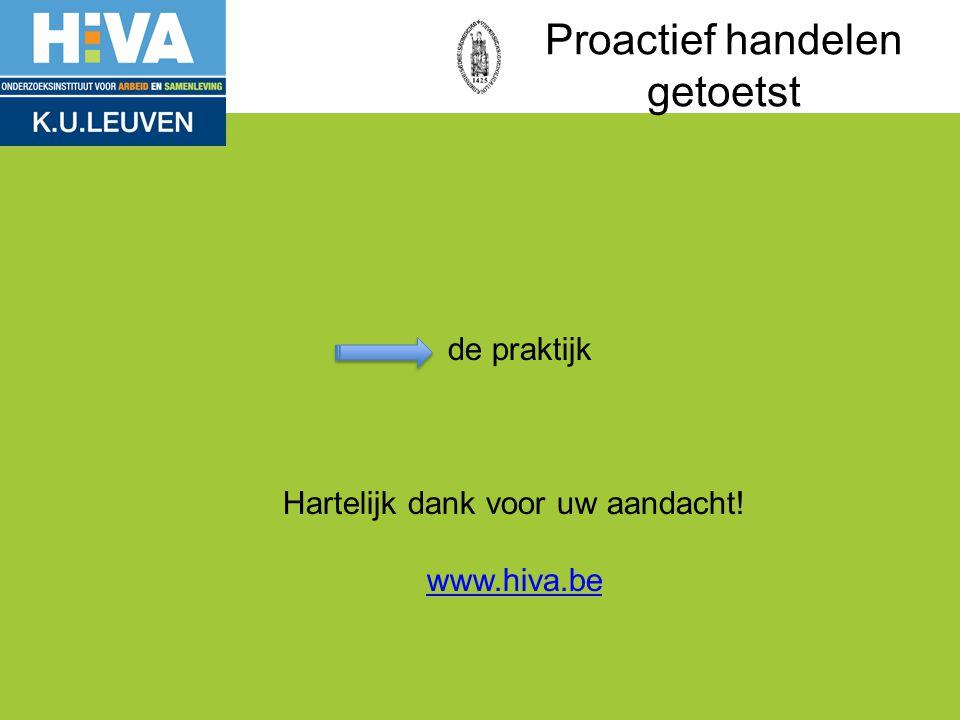 de praktijk Hartelijk dank voor uw aandacht! www.hiva.be