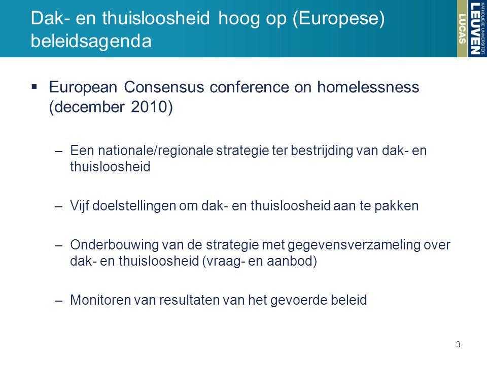 Dak- en thuisloosheid hoog op (Europese) beleidsagenda