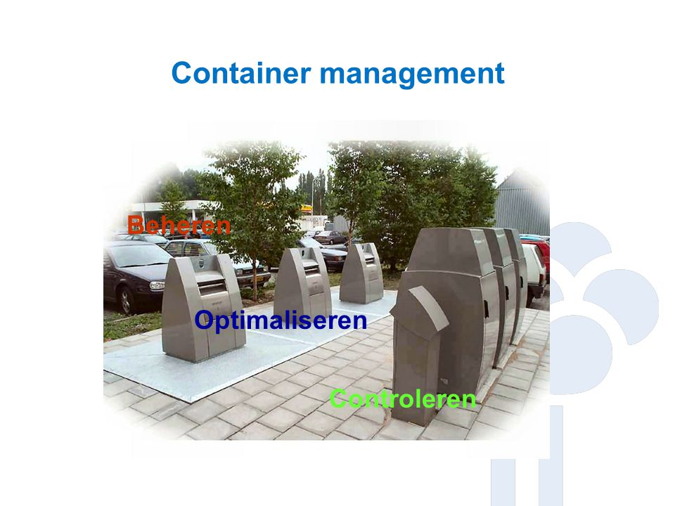 Container management Beheren Optimaliseren Controleren