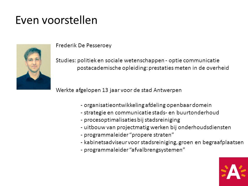 Even voorstellen Frederik De Pesseroey